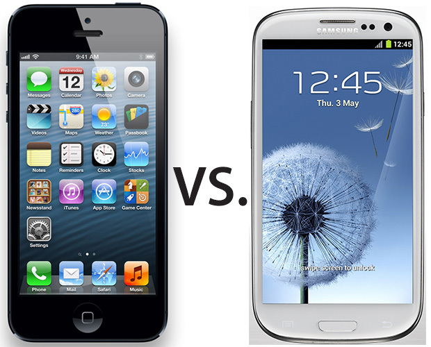 apple iphone 5 vs samsung galaxy siii full specs chart