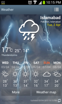 Accuweather widget for galaxy S4, Galaxy S4 Accuweather widget