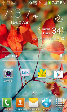 samsung gt-s7560m phone how to change accuweather