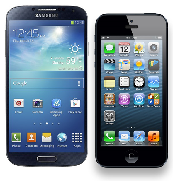 Galaxy S4 vs iphone