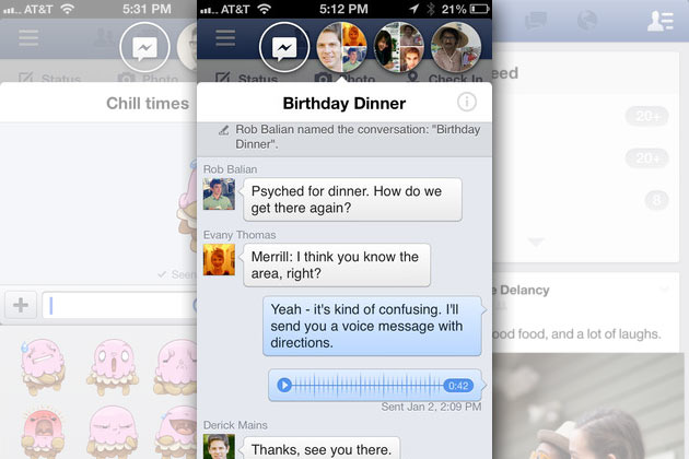 Facebook chat heads for ios