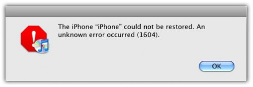 iTunes error error 1604 error 1603 error 1602 error 1601
