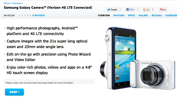 The Verizon's Samsung Galaxy Camera Receives an update to VRAMC4.