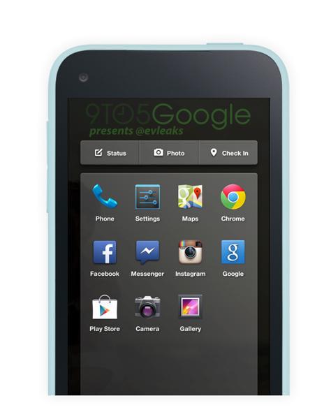 facebook phone UI New facebook UI
