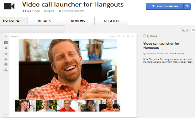 Chrome Web Store   Video call launcher for Hangouts