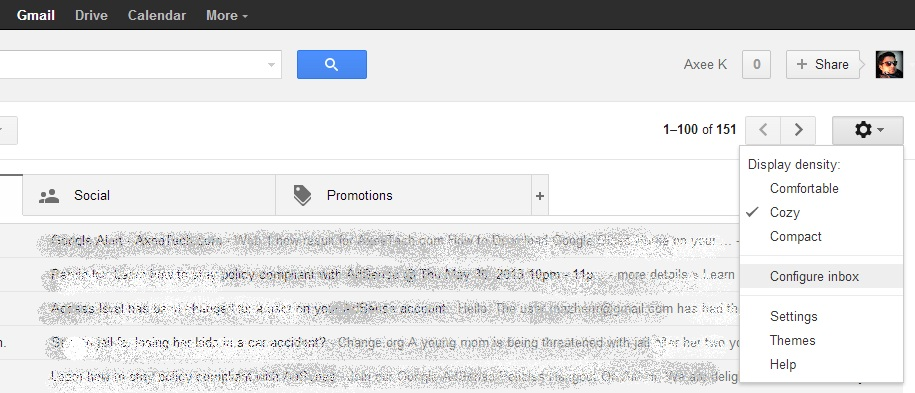 Gmail tabs, Gmail new featured tabs, New gmail tabs interface, How to enable tabs in Gmail, How to get the new Gmail interface, Gmail new buttons, Gmail updated interface, Gmail, Gmail 2013, Gmail updates, How to use new Gmail, how to enable new Gmail tabs