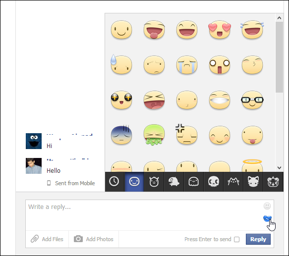 facebook new stickers, facebook stickers pc, facebook pc chat stickers