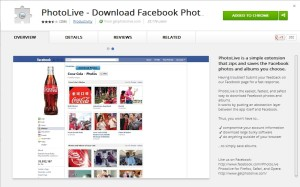 PhotoLive, Photo Live, Download facebook album, download facebook album zip file, Facebook album in zip file.