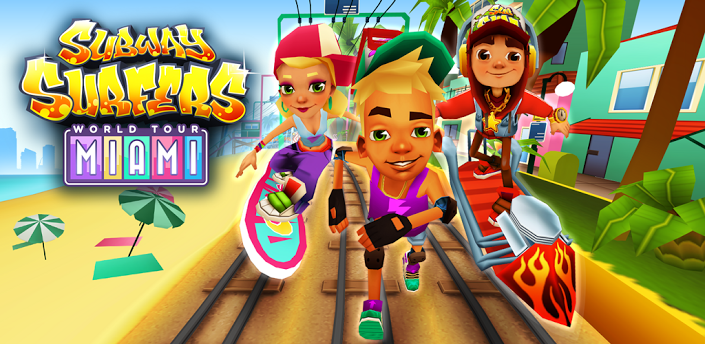 Subway Surfers Miami, Miami subway surfers,unlimited game subway surfers