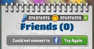Subway surfers miami Facebook error, Subway Surfers facebook connection error, Can not sign in to facebook with Subway Surfers Miami, Subway Surfers facebook login problem, Subway fb error, Subway Surfers Fb error, Facebook error message, facebook login problem