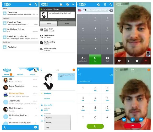 Skype, Skype for Android, Skype 4.0, Skype update, Skype 4 Google paly