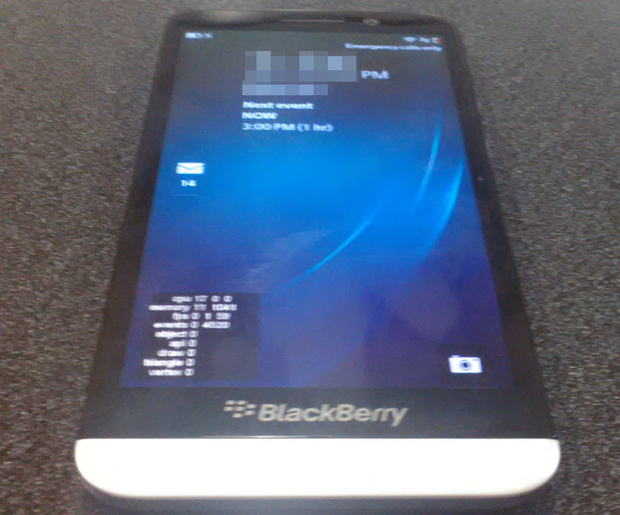 5 inch blackberry, A10 image, Blackberry A10,