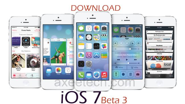 iOS7 Beta 3, iOS 7, iOS 7 Beta 3 download, iOS 7 Download