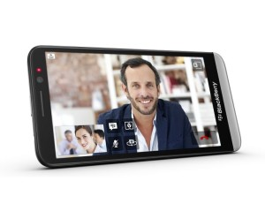 BlackBerry Z30 image, front view, 5 inch screen