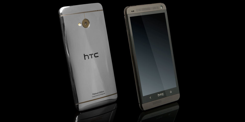 Gold HTC One Platinum edition by gold genie