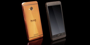 Gold HTC One Rose Gold edition by gold genie