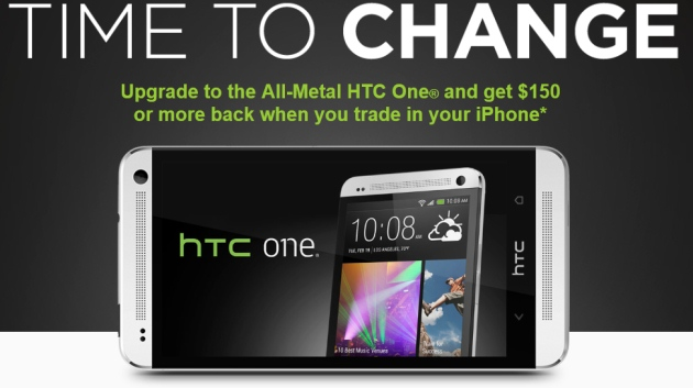 HTC iPhone offer New HTC offer HTC One offer iPhone 5 HTC