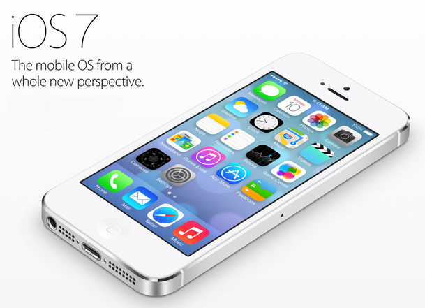 iPhone with iOS 7 update