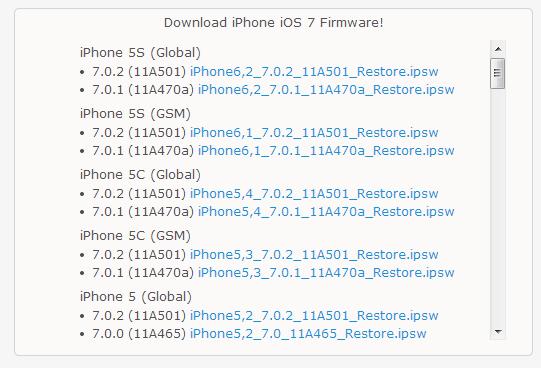Download iOS Firmware  IPSW  Files for iPhone