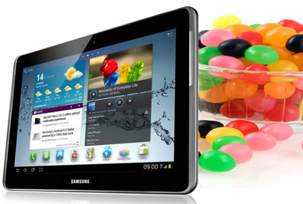 Samsung Galaxy Tab 2 jelly Bean Update