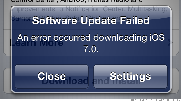 iOS 7 download problems