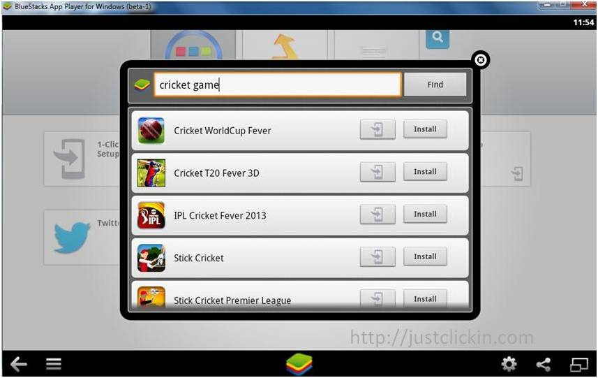 Bluestacks-game-search