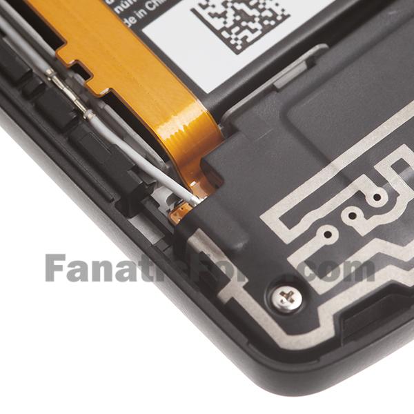 Nexus 5 tear down shows OIS camera and 2,300 mAh battery.