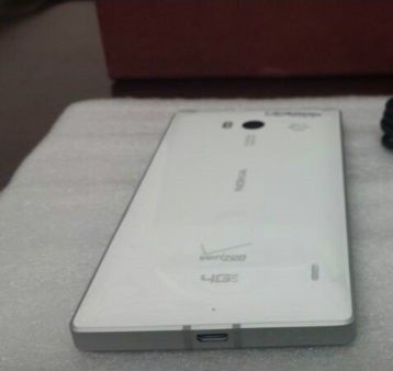 A White Nokia Lumia 929 leaked in a live photo.