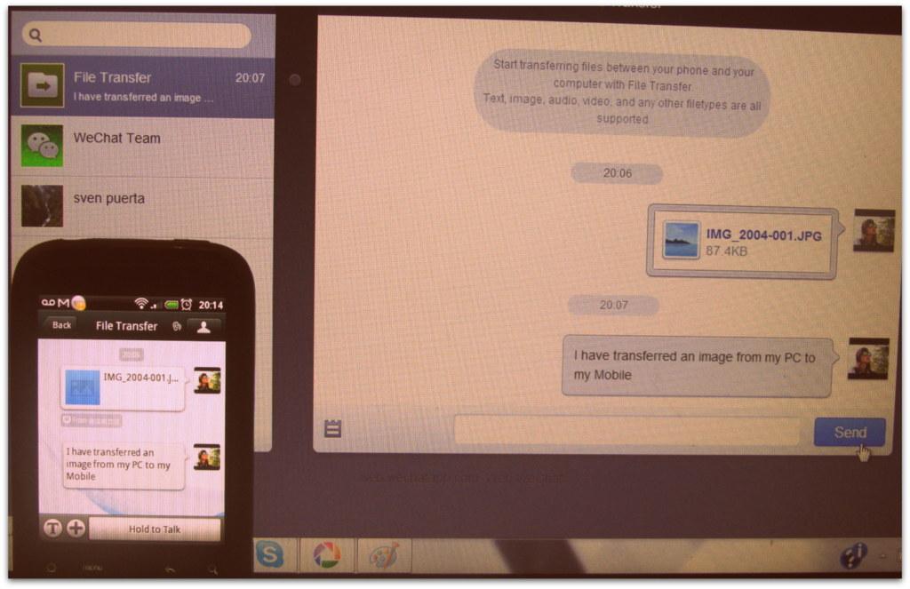 web wechat using PC free social app download