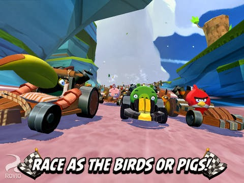 racing game angry birds go