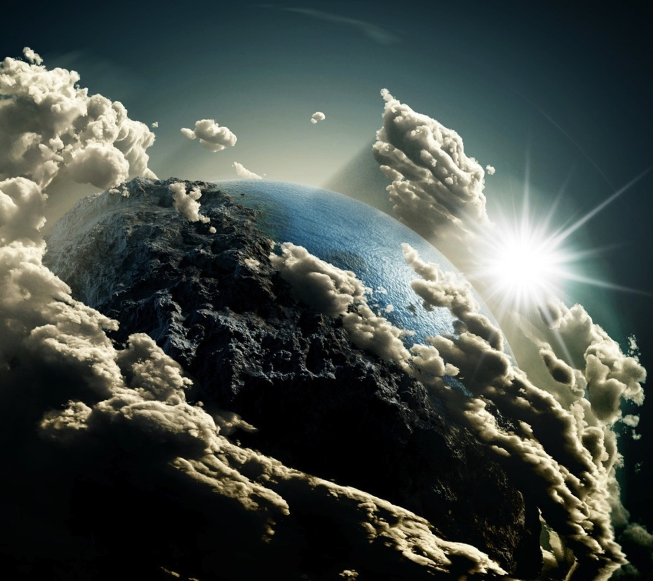 Earths-View-in-Clouds-Top-10-HD-Samsung-Galaxy-S5-Wallpapers-download