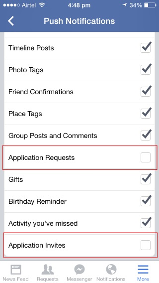 Uncheck-Application-Requests-and-Application-Invites