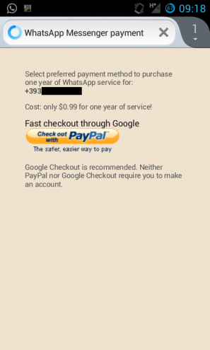 Whats App Paypal, WhatsApp Payment option
