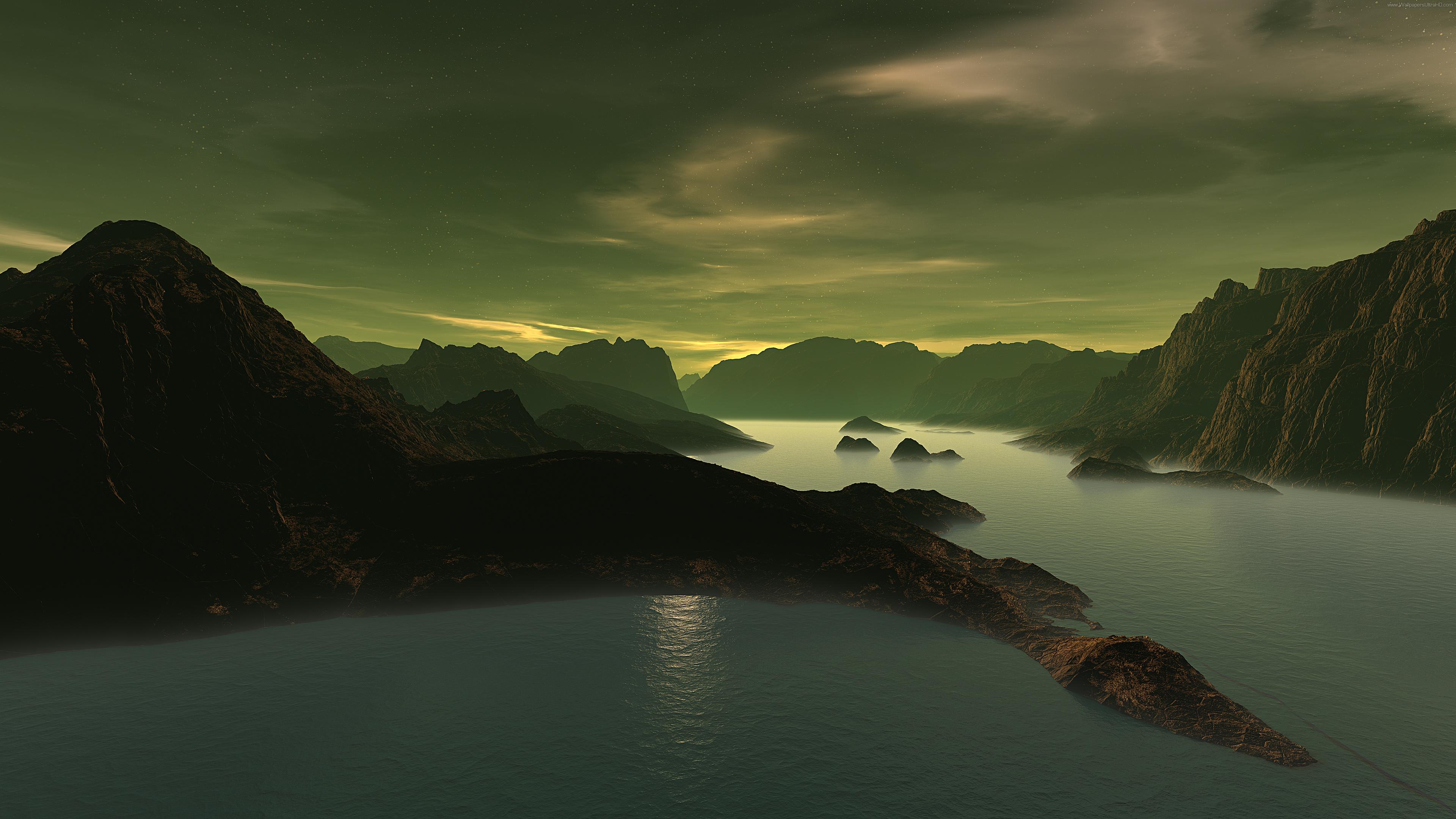 风景 山水 桌面 3840