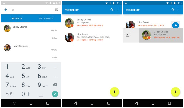 Download Android 5.0 L messenger app for SMS and MMS. [ Direct Apk Link]