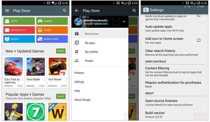 Breaking  Google Play Store Update 5.0.31