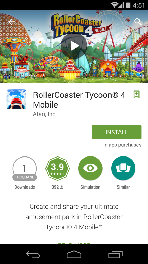 RollerCoaster Tycoon 4 Mobile apk (1)