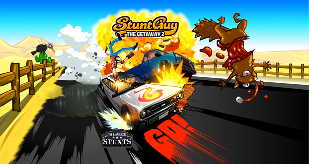 Stunt Guy 2.0 Mod Apk with Unlimited Cash and Gears.