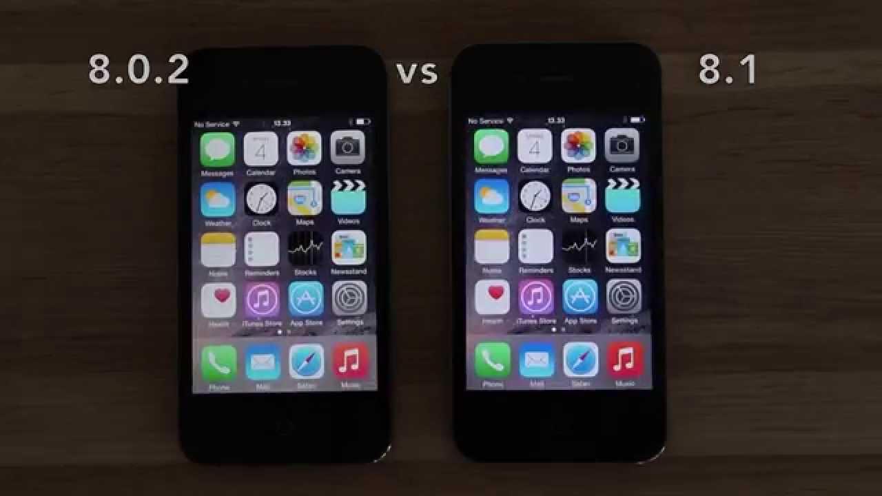 iOS 8.0.2 vs iOS 8.1 on iPhone 4S