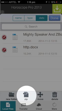 Zipping-the-files-on-iPhone-and-iPad