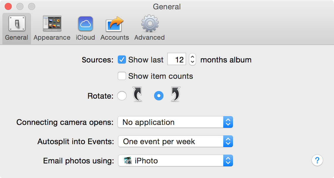 iPhoto-Preferences