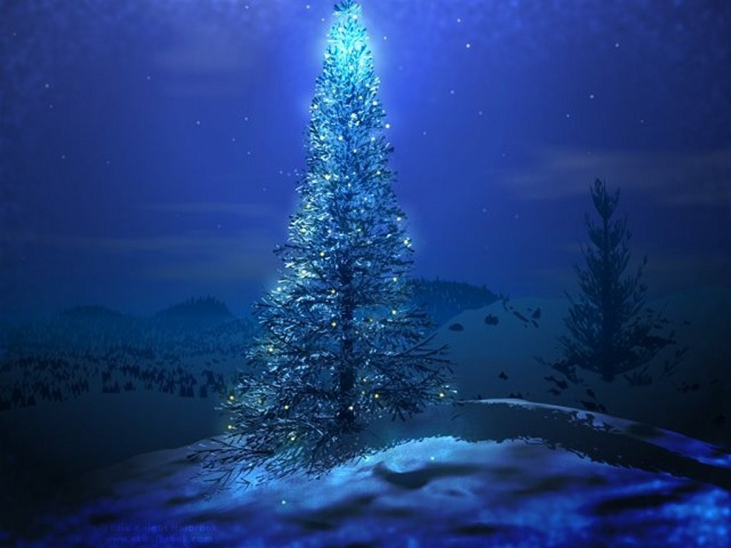 3D-Christmas-Tree-HD-Wallpaper