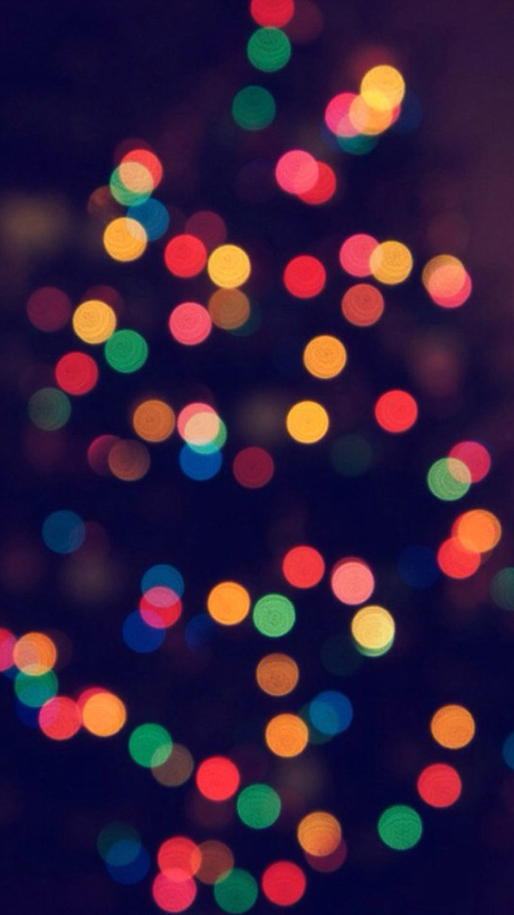 Christmas Tree Bokeh iPhone 6 Wallpapers