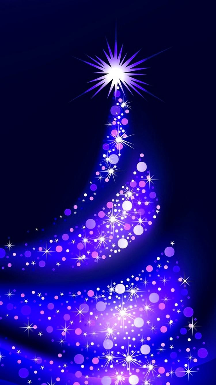 Purple christmas tree lights iphone wallpapers stars