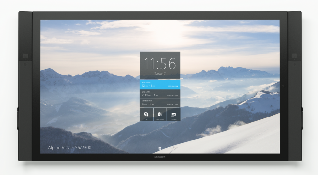 Microsoft Surface Hub: Windows 10 in an all in one 84-inch