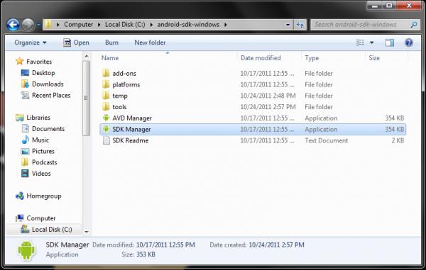 Android-4.0-SDK-Folder