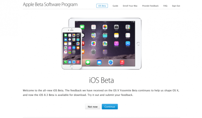 iOS 8.3 is released for the first time in public beta channel