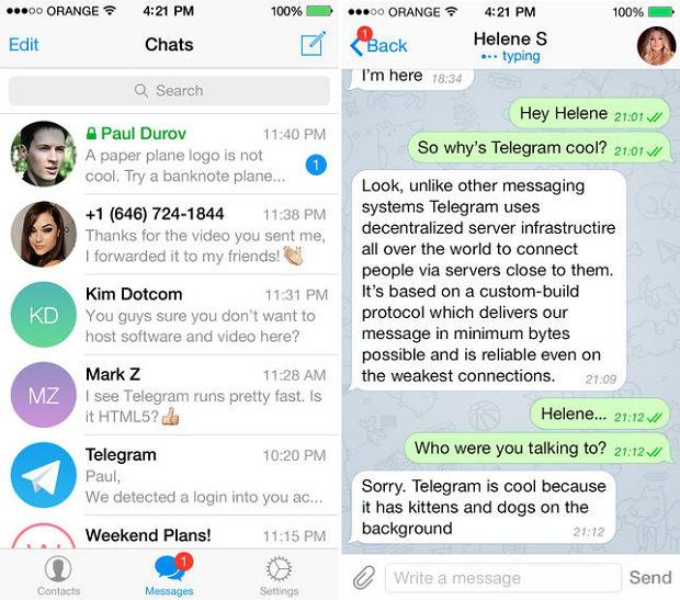 Telegram-messenger-iPhone