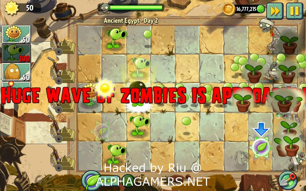 game plants vs zombie crack head