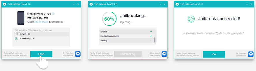 Download Taig Tool v2.0 to Jailbreak iOS 8.3.